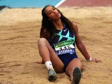 La atleta María Vicente en el Campeonato de España