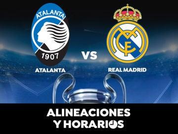 Atalanta - Real Madrid: Horario, alineaciones y dónde ver el partido de la Champions League en directo