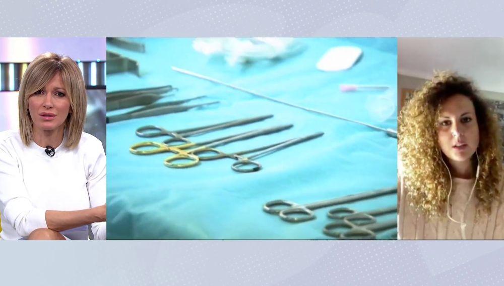 María, víctima de prótesis mamarias defectuosas