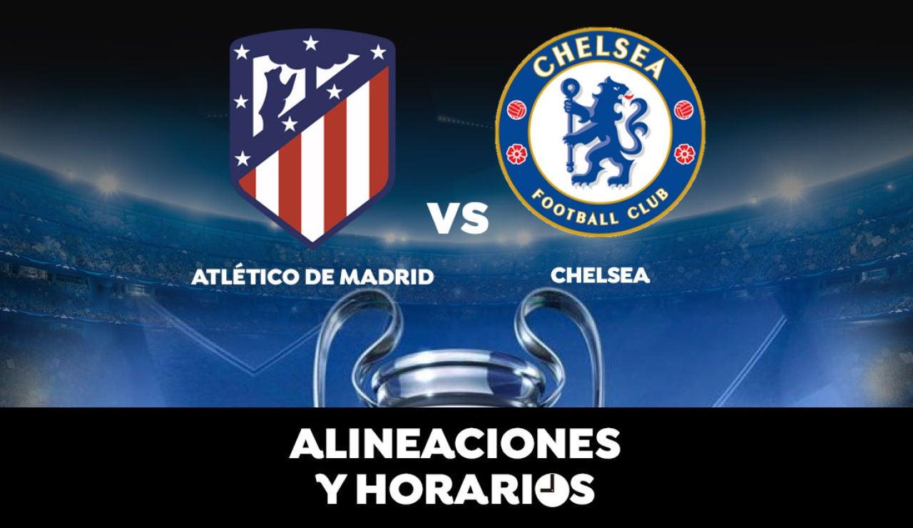 Atlético de Madrid - Chelsea: Horario, alineaciones y dónde ver el partido en directo | Champions League