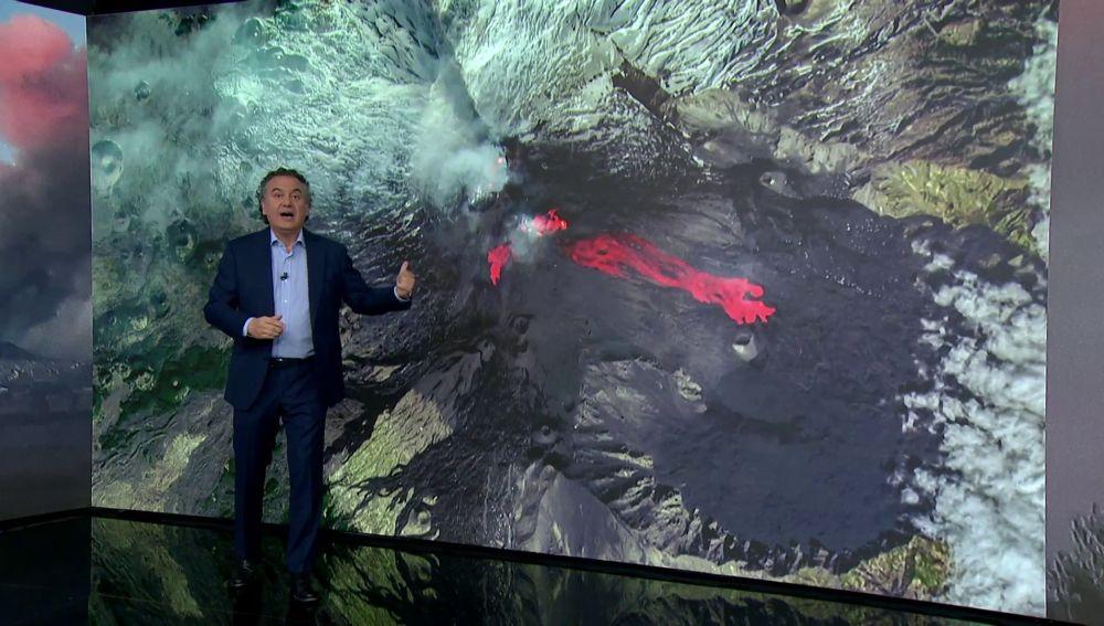 Así se vio la erupción del volcán Etna desde el espacio