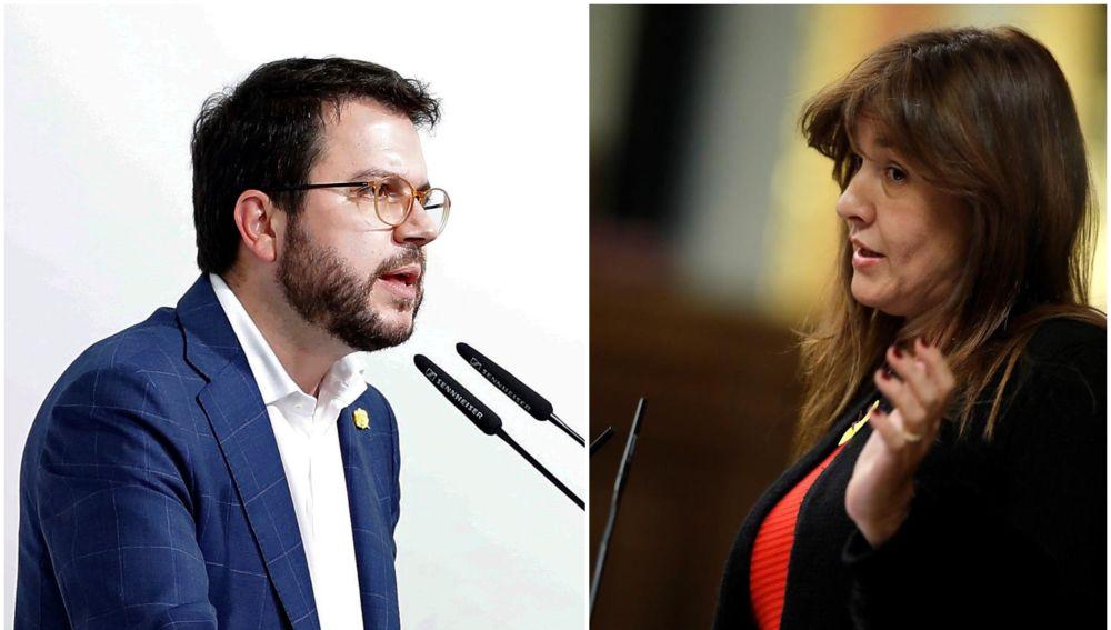 Pere Aragonès (ERC) y Laura Borrás (JxCat)