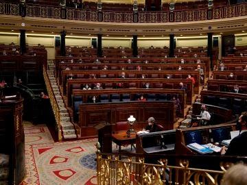 Sesión parlamentaria en el Congreso de los Diputados.