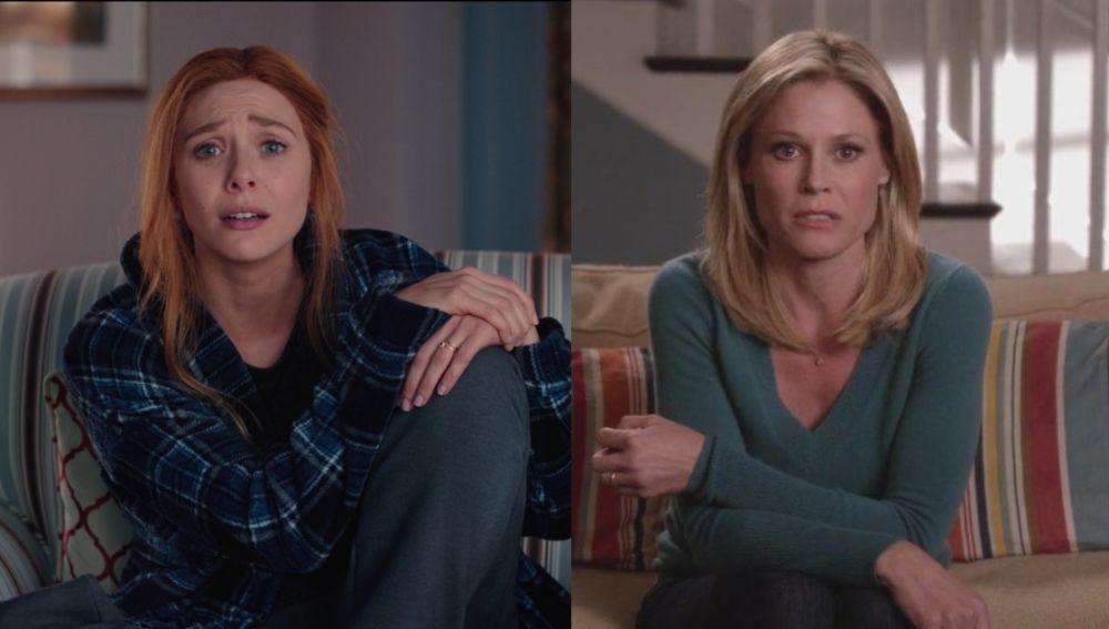 Elizabeth Olsen en 'WandaVision' y Julie Bowen en 'Modern Family'
