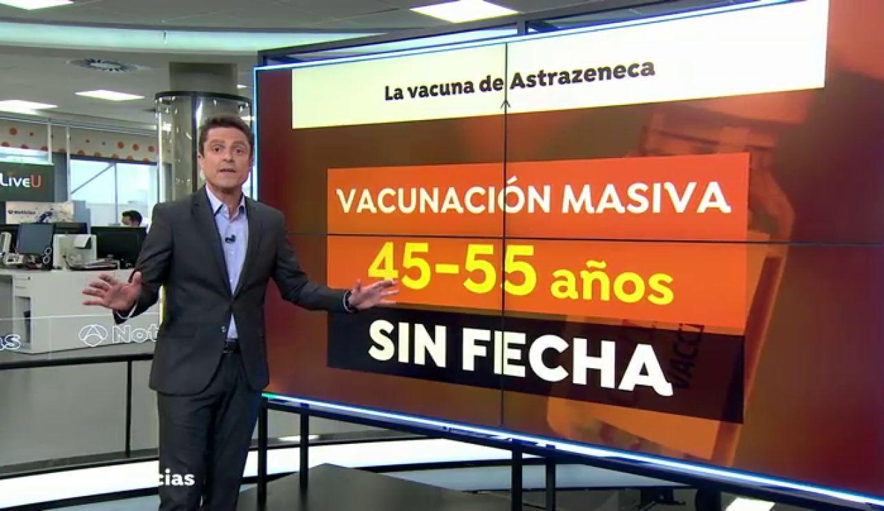 ¿Cuándo empezará la vacunación contra el coronavirus del grupo entre 45 a 55 años?
