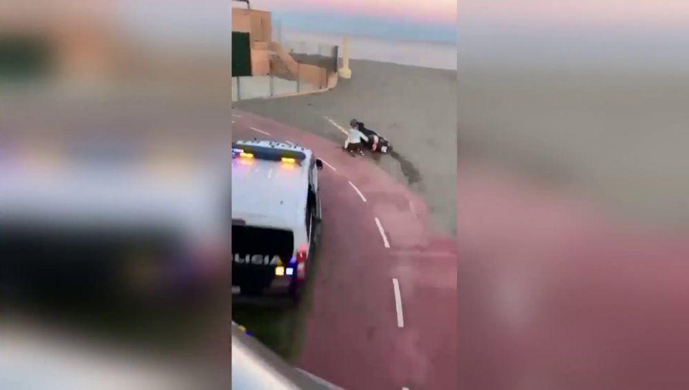 Detenidas 2 personas en una espectacular persecución en Fuengirola