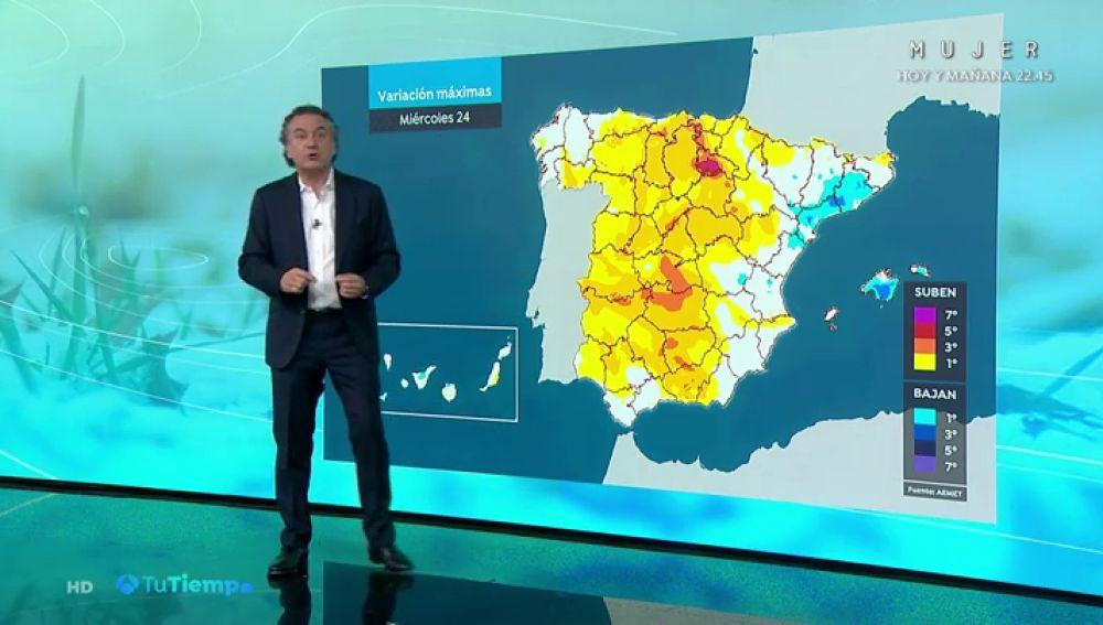 La previsión del tiempo hoy: Suben las temperaturas con lluvias débiles en Valencia y nordeste de Cataluña