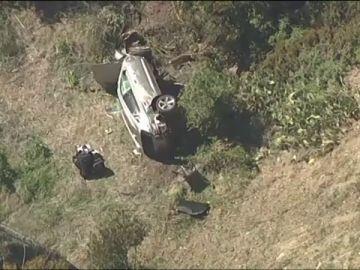 Tiger Woods, herido en un accidente de coche en Los Ángeles