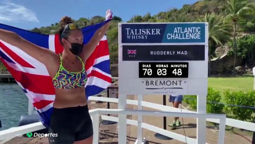 Jasmine Harrison establece un récord mundial al ser la mujer más joven en cruzar el océano Atlántico a golpe de remo