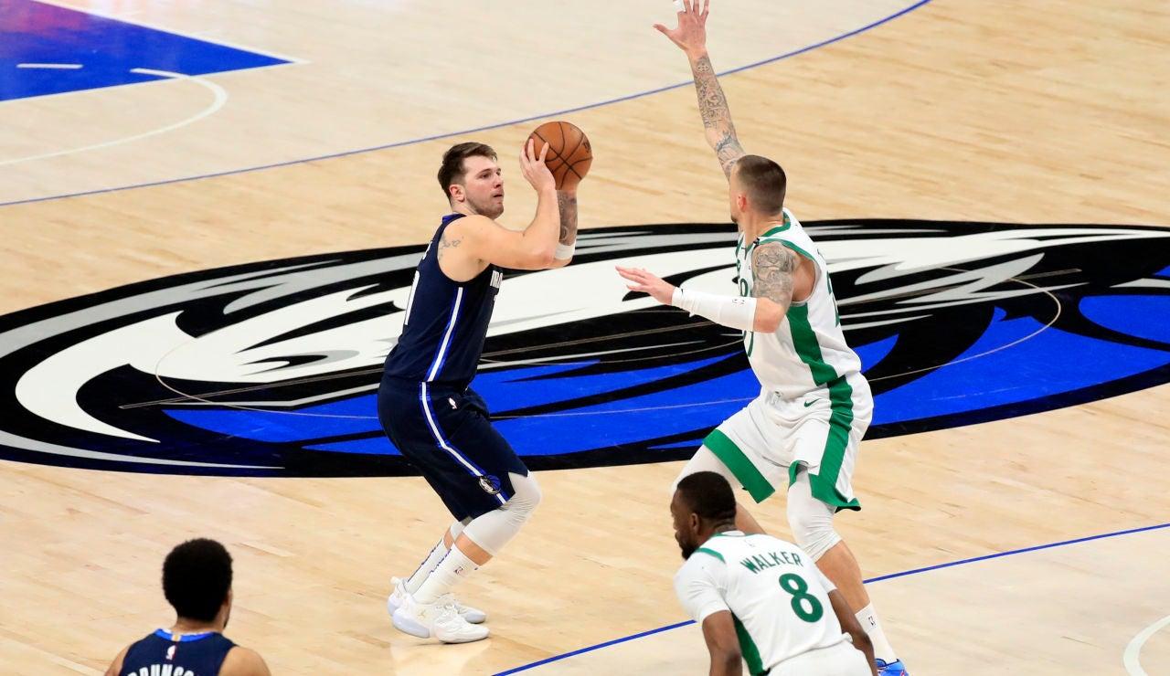 Dos triples de Luka Doncic en los segundos finales dan la victoria a los Mavericks ante Boston Celtics