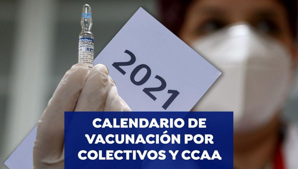 Calendario de vacunación por colectivos y comunidades