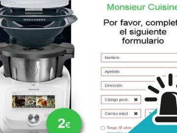 Lidl no está regalando su robot de cocina, la Guardia Civil alerta del último phishing