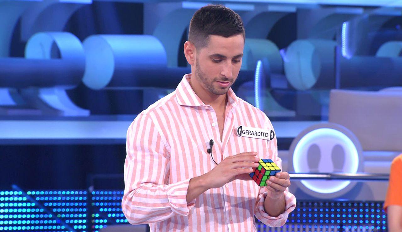 Gerardito deja a Arturo Valls alucinado con su destreza con un cubo de rubik