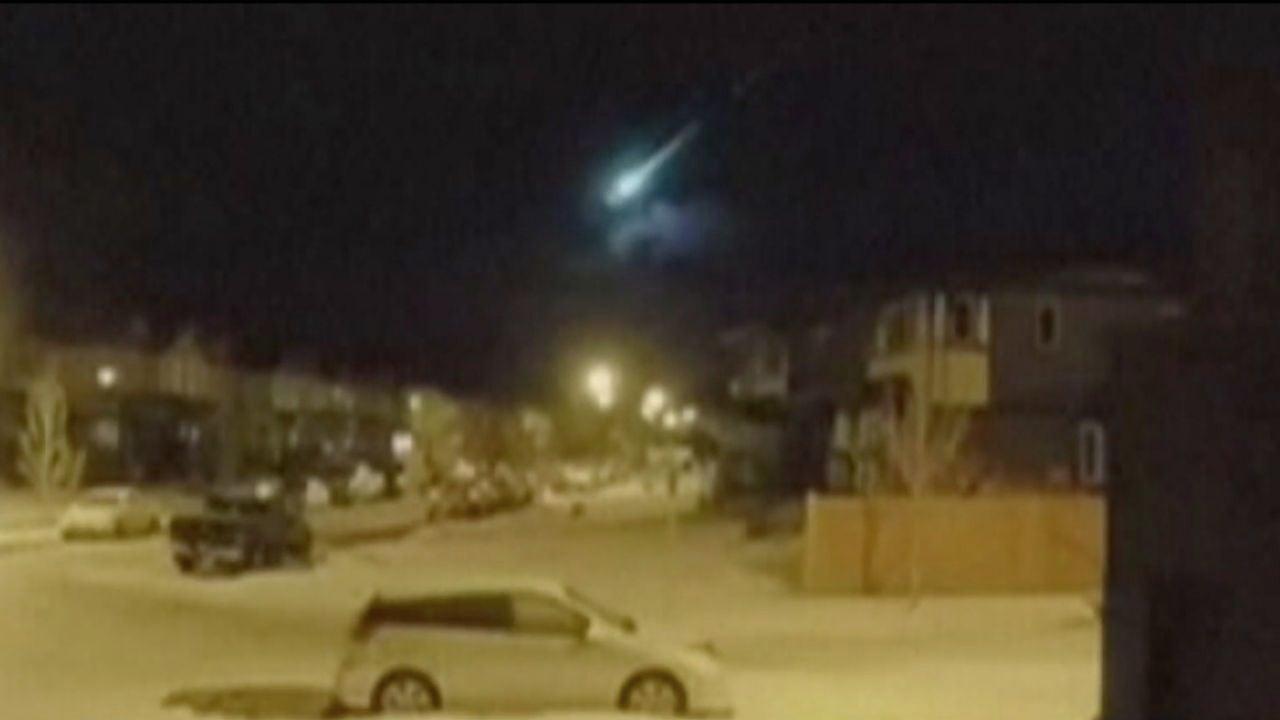 Un meteorito ilumina el cielo de Alberta en Canadá