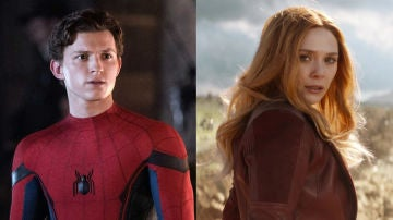 Tom Holland y Elizabeth Olsen