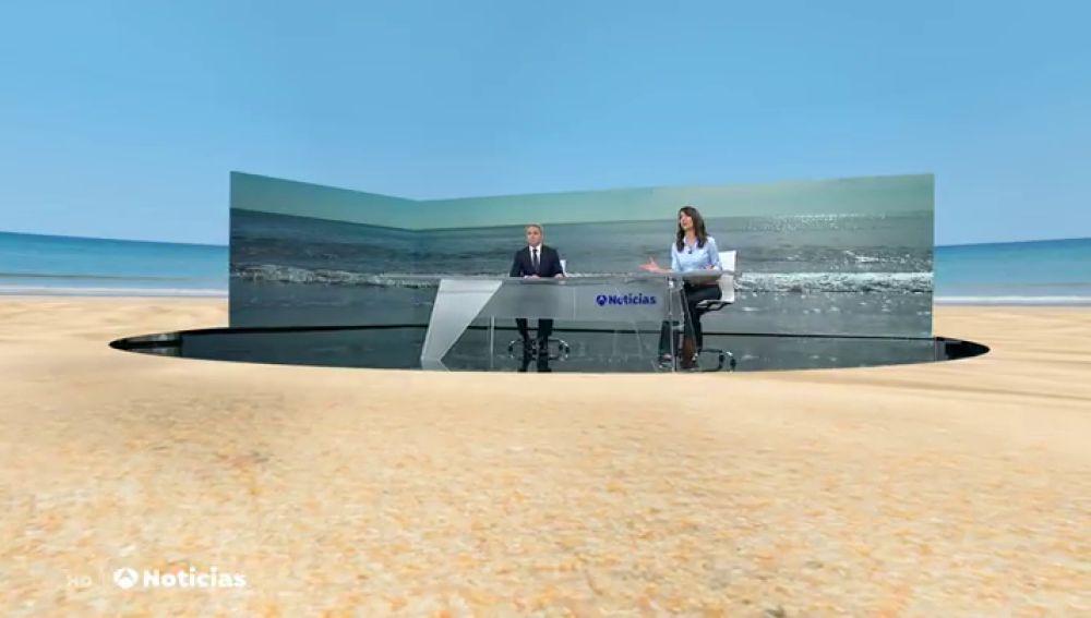 Un viaje en realidad aumentada a tu destino favorito desde el plato de Antena 3 Noticias