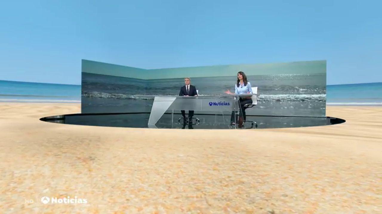 Un viaje en realidad aumentada a tu destino favorito desde el plató de Antena 3 Noticias