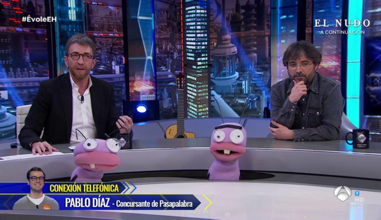 Pablo Díaz, concursante de 'Pasapalabra', conecta con 'El Hormiguero 3.0 tras su rosco de infarto