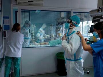 Imagen de un hospital de Madrid durante la pandemia de coronavirus