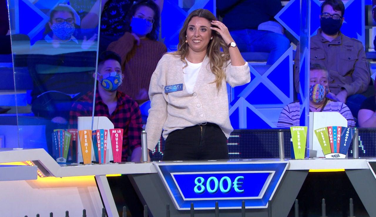 Una consonante aleatoria salva a Cristi durante la cuenta atrás de Jorge Fernández