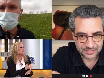 El enfado de Elisa Beni con un Policía que rechaza la vacuna de AstraZeneca