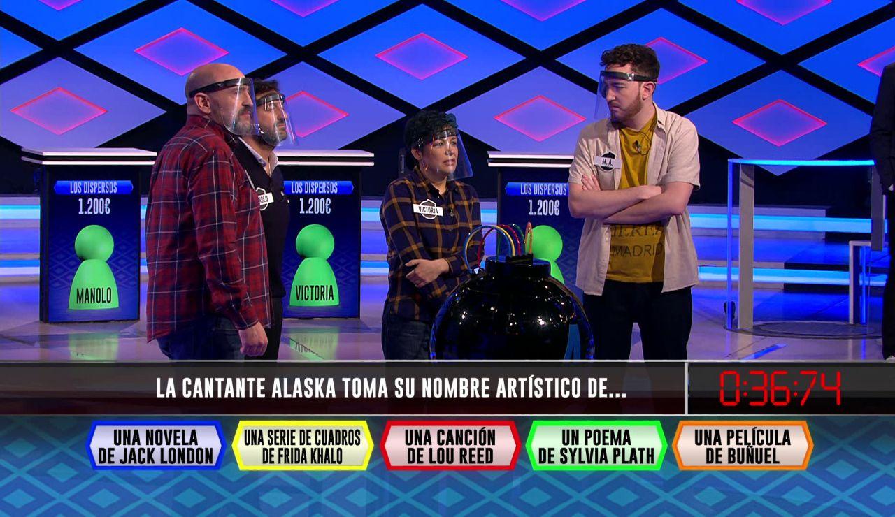 La cantante 'Alaska' le 'regala' el pleno a 'Los dispersos' en la fase inicial de '¡Boom!'