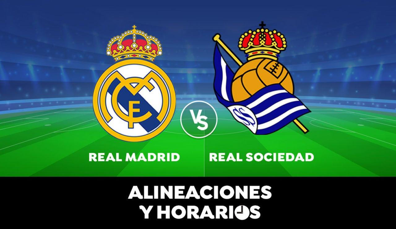 Real Madrid - Real Sociedad: Horario, alineaciones y dónde ver el partido de Liga Santander en directo