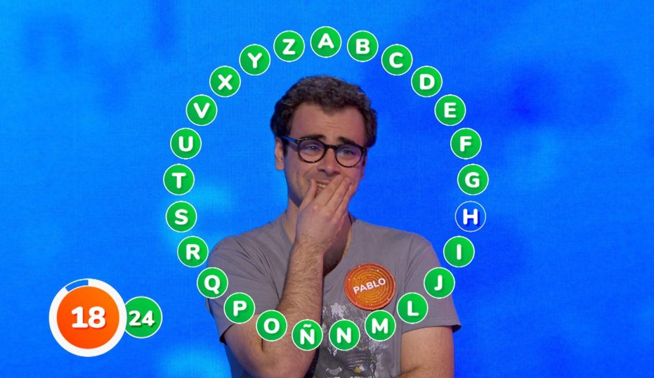 Emoción y una sola palabra en 'El Rosco' de Pablo: 18 segundos para ganar 1.294.000 euros