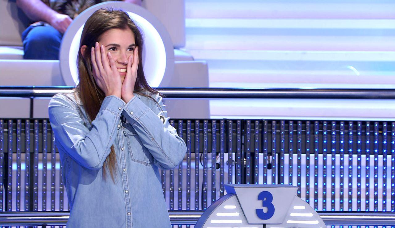 La llamativa reacción de una concursante tras su fallo en '¡Ahora caigo!'