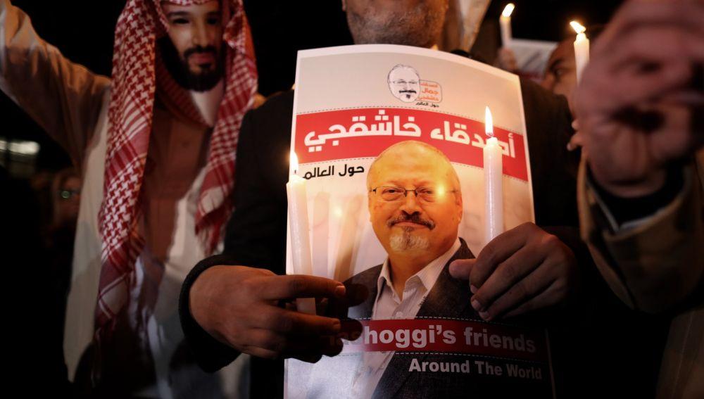 Homenaje al periodista Jamal Khashoggi.