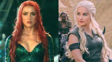 Amber Heard en 'Aquaman' y Emilia Clarke en 'Juego de Tronos'