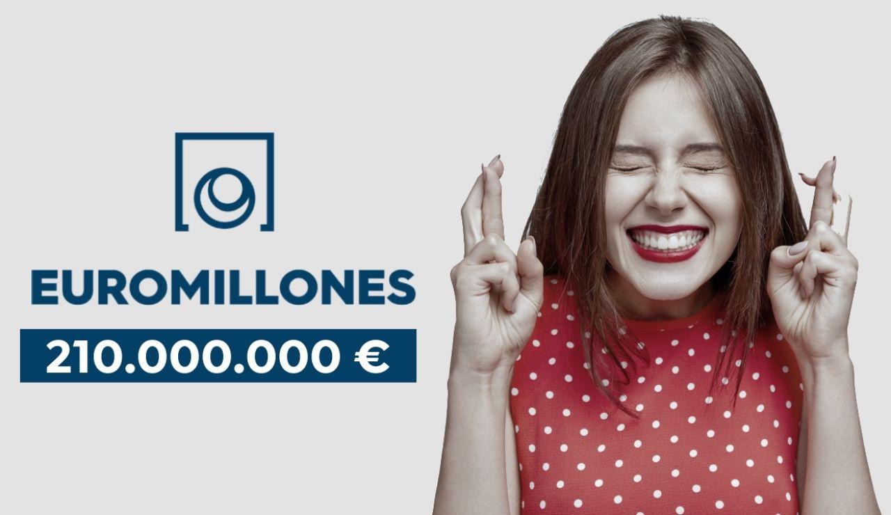 Bote histórico de Euromillones con 210 millones de euros en juego en el sorteo de hoy