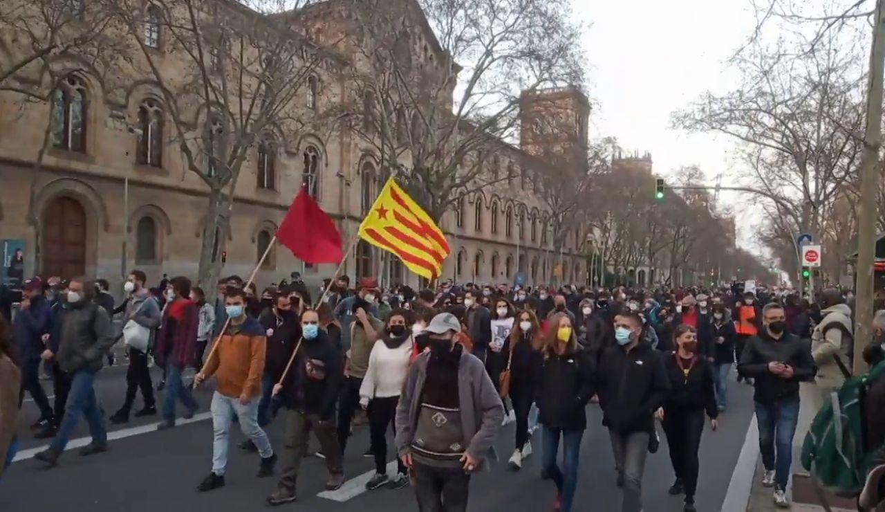 Nuevas manifestaciones en Barcelona, Girona y Terrassa para pedir la libertad de Pablo Hasél