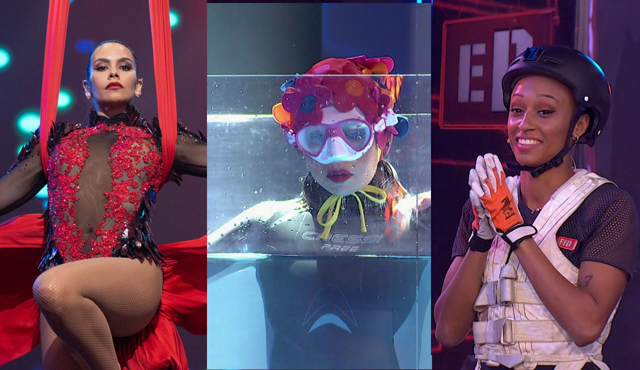 Las acrobacias de Cristina Pedroche, el pique de Ana Peleteiro con Kira Miró y la fugaz Apnea de Ágatha Ruiz de la Prada en el séptimo programa de 'El Desafío'