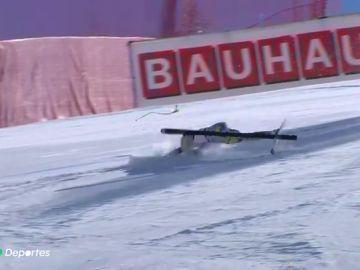 Los desgarradores gritos de dolor de la esquiadora Kajsa Vickhoff Lie tras una brutal caída en Italia