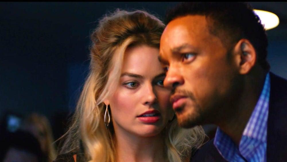 Margot Robbie y Will Smith en 'Focus'