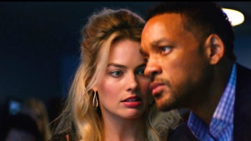 Margot Robbie y Will Smith en 'Focus'