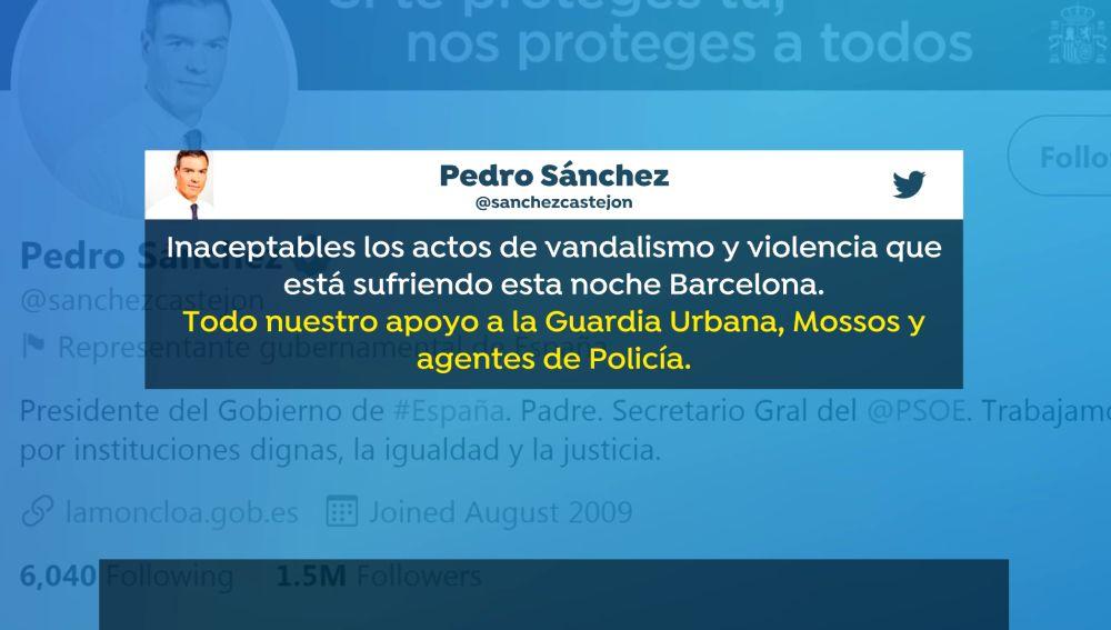 Los políticos critican otra noche de manifestaciones y protestas en Barcelona por la detención de Pablo Hásel