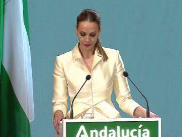 Eva González, muy emocionada en la ceremonia del Día de Andalucía al hablar de la pandemia del coronavirus