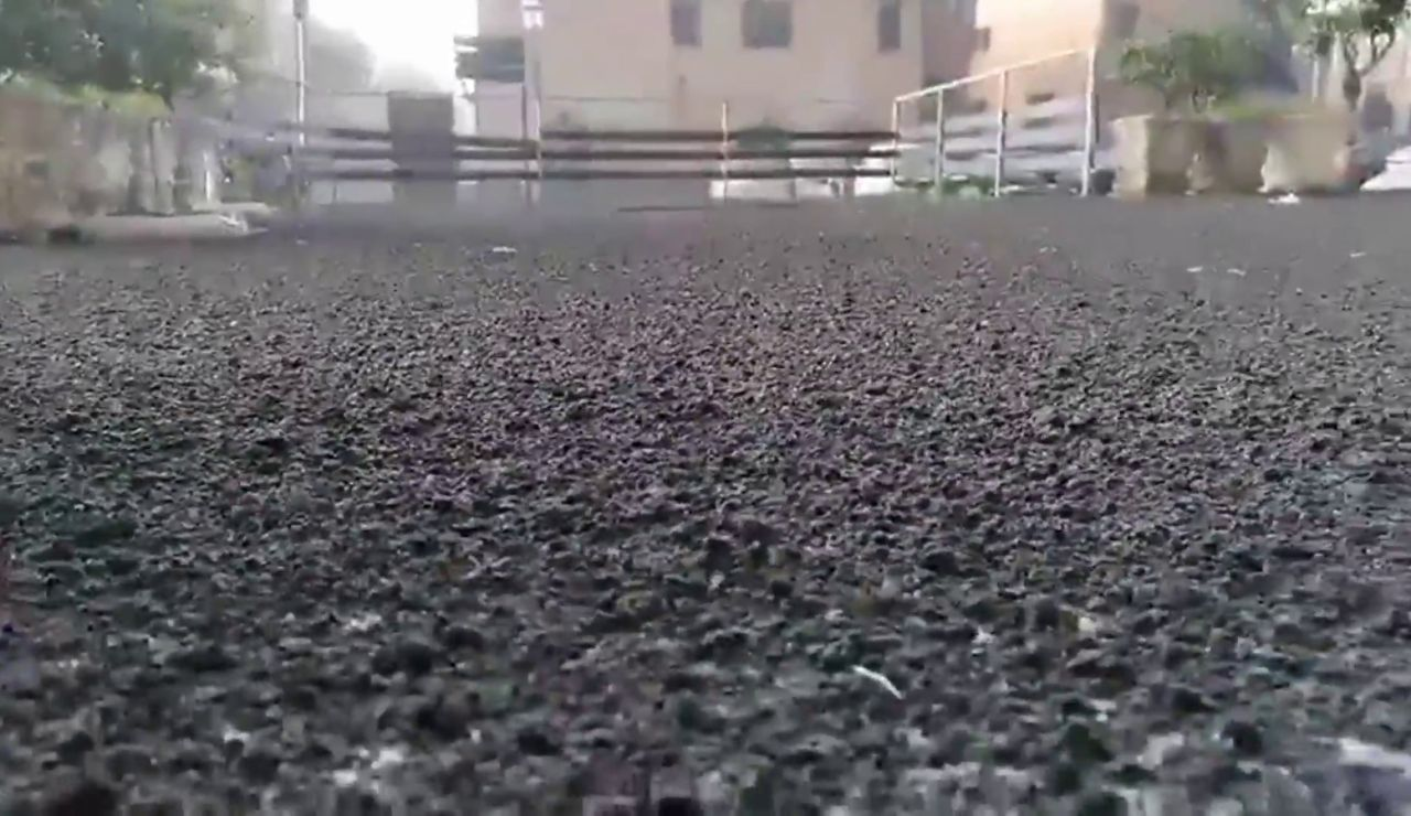 Lluvias de ceniza por la erupción del volcán Etna