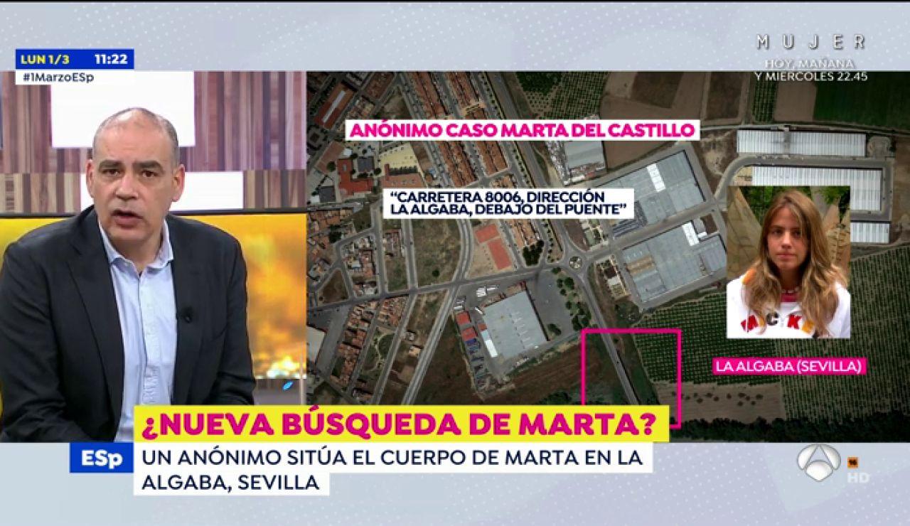Un anónimo sitúa el cuerpo de Marta del Castillo en La Algaba