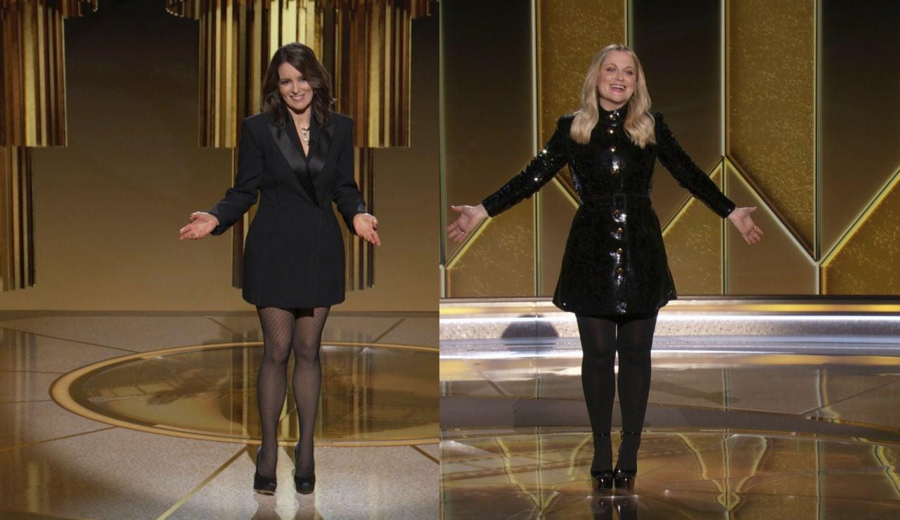 Tina Fey y Amy Poehler en los Globos de Oro 2021