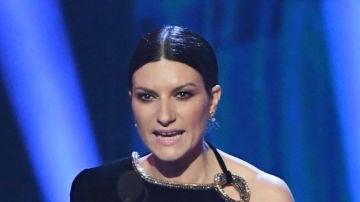 La cantante Laura Pausini en los Grammy