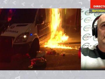 """La indignación de la Policía por la violencia en Cataluña: """"Parece que los propios poderes públicos están buscando un muerto"""""""