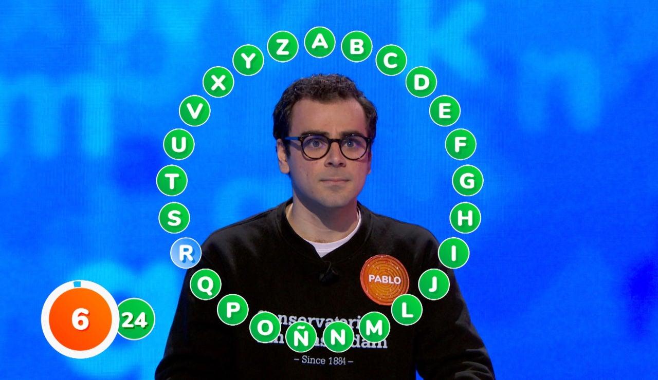 Pablo enloquece el plató a falta de una única palabra para completar 'El Rosco', ¿sabrá el apellido del biólogo?