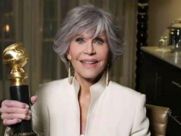 Jane Fonda en los Globos de Oro 2021