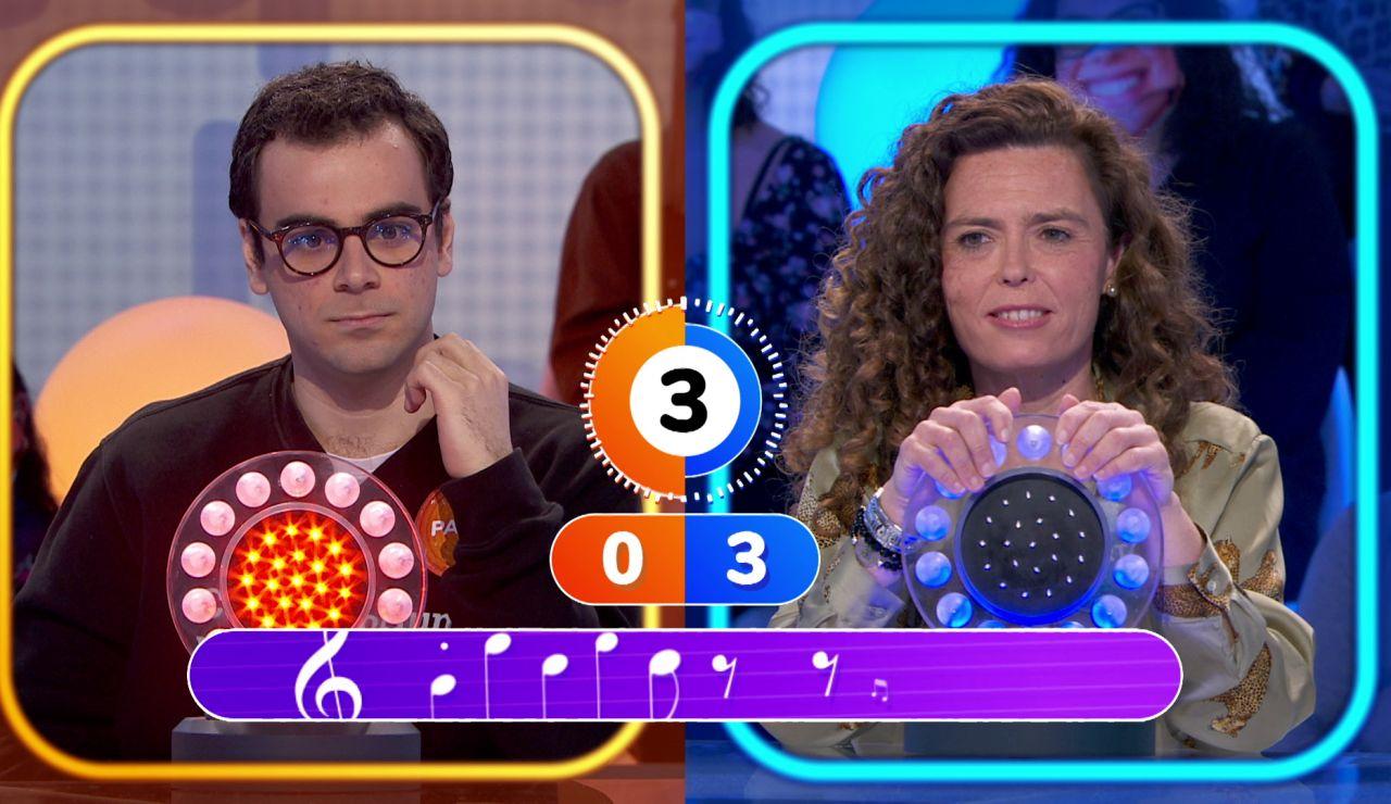 """Desconcierto absoluto en el duelo entre Pablo y Marta: """"Está al revés la canción, ¿no?"""""""