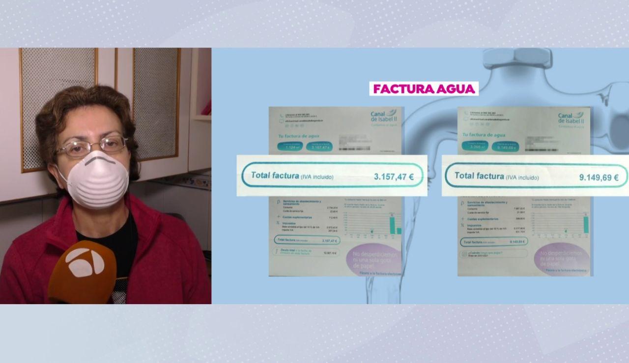 La odisea de Tomasa tras recibir una factura de agua de 12.000 euros