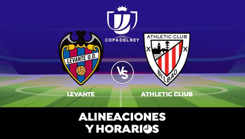 Levante - Athletic Club: Horario, alineaciones y dónde ver el partido de la Copa del Rey en directo