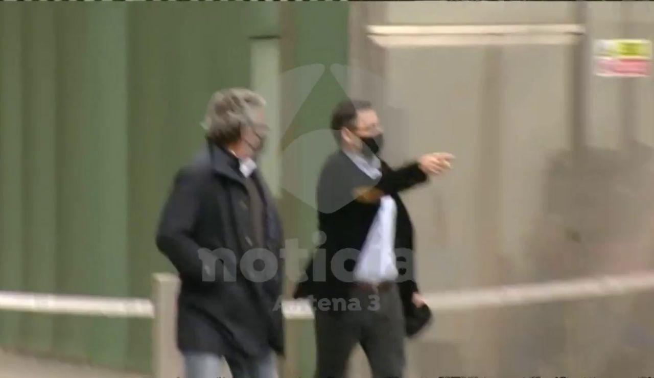 REEMPLAZO |  Imágenes en exclusiva de Antena 3 Noticias de la salida de Josep María Bartomeu del juzgado